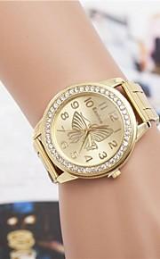 Mulheres Relógio de Moda Quartzo Lega Banda Borboleta Prata Dourada Ouro Rose Prata Dourado Ouro Rose