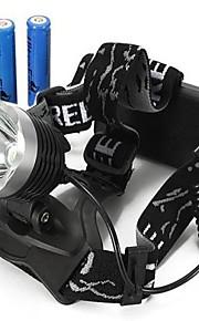 Hovedlygter / Cykellys (Vanntett / Genopladelig / Nedslags Resistent / Strike Bezel) - LED 3 Tilstand 2000/1600/1800/350 Lumens 18650