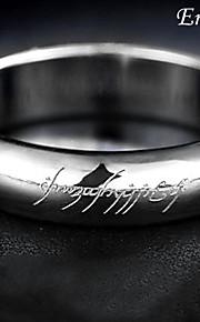 Titanium Stål Sølv Ring