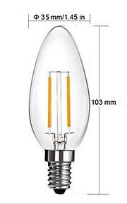 נורות נר - E14 - 2 W( לבן חם