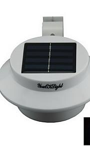 youoklight® vanntett 0.3W 40lm 3-ledede varm / hvitt lys solcelledrevet hage vegglampe - hvit