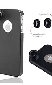 1 나사 물고기 눈 / 광각에서 apexel 3 0.67x / 10 배 아이폰에 대한 다시 케이스와 매크로 렌즈 (5) / 5 초 (모듬 색상)