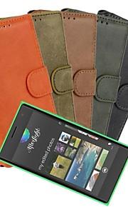 용 노키아 케이스 지갑 / 카드 홀더 / 스탠드 / 반투명 케이스 풀 바디 케이스 단색 하드 인조 가죽 Nokia