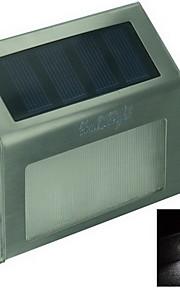 youoklight® 0.2W 2-ledede varm / hvitt lys kontroll solar vegglampe-sølv