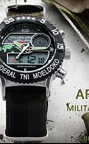 5m digitais exército esporte impermeável relógios de pulso militar dos homens lona cinta analógicos (cores sortidas)