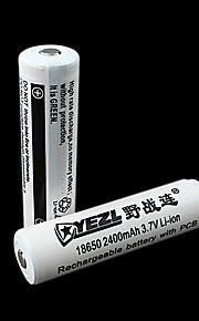 Yezl 2400mAh 18650 Rechargeable Battery (1pcs)