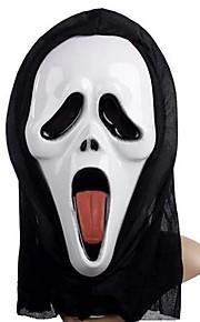 degola máscara fantasma língua com a tampa da cabeça gritar piada prático aparelhos cosplay assustador para festa a fantasia do dia das bruxas