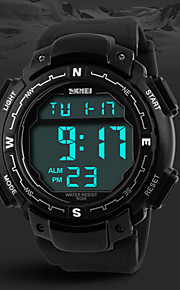 projeto militar tela LCD Digital borracha preta relógio do esporte pulseira masculina