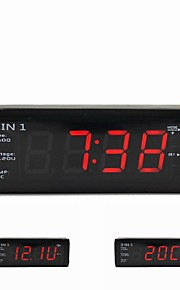 3 in 1 Car Digital Clock With Voltmeter and Thermometers For 12V/24V