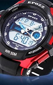 relógio à prova d'água digital de borracha multifunções relógio esportivo da banda dos homens (cores sortidas)