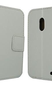 Para Funda Nokia Cartera / Soporte de Coche / con Soporte Funda Cuerpo Entero Funda Un Color Dura Cuero Sintético Nokia Nokia Lumia 620