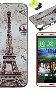 Para Funda HTC Diseños Funda Cubierta Trasera Funda Torre Eiffel Dura Policarbonato HTC
