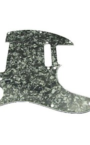 3ply pickguard for tele style guitar, perle sort