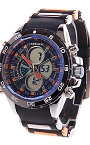 besnew bn-0798 multifuncional dual core relógio do esporte elástico pulso dos homens (1 x sr626)
