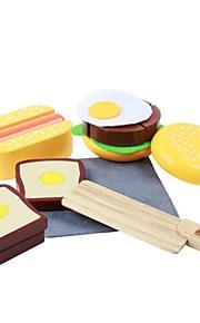 benho gummi træ vestlig mad sæt træ rollespil legetøj