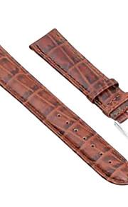 22 milímetros pu relógio de ponto de couro marrom pulseira pulseira de banda