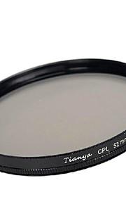 Tianya 52 milímetros cpl filtro polarizador circular para Nikon D5200 D3100 D5100 D3200 lente 18-55mm