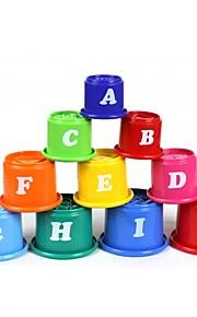 10-i-1 engelske alfabet stakke kopper sæt