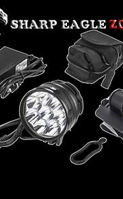 SHARP EAGLE/ZQ-L2 3Mode 9XCREE XM-L2 LED Hesdlamp(10800LM.4X18650.Black)