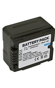 VW-VBG130 - Li-ion - Batterij - voorfor Panasonic TM15GK TM750 TMT750 TM600GK TM650 TM350GK TM700 <br> HS9 HS10 HS20 HS100GK HS200GK