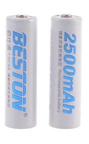 BESTON - Ni-CD - Aa - Batterij - 2500mAh - ( mAh ) - 2 - pcs