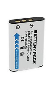 680mAh 3.7v np-BY1 en-EL11 / li-60b / DLI-78 camera batterij voor Sony HDR-az1v az1vr Olympus FE-370