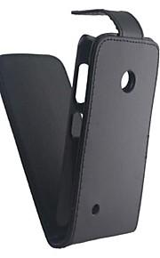 용 노키아 케이스 플립 / 반투명 케이스 풀 바디 케이스 단색 하드 인조 가죽 Nokia Nokia Lumia 530