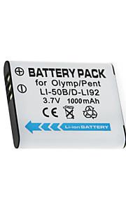 LI-50B/DLI-92/CNP-150 - Li-ion - Batterij - voor for Olympus MJU 1010 1020 1030SW SP720UZ SP800UZ  SP810UZ SZ11 SZ12 SZ14 SZ15 - 3.7V - (