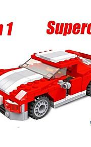Børn pædagogiske læring legetøj byggesten racerbiler funny legetøj