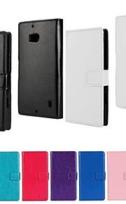 Para Funda Nokia Cartera / Soporte de Coche / con Soporte Funda Cuerpo Entero Funda Un Color Dura Cuero Sintético Nokia Nokia Lumia 930