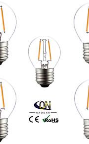 5 stk. ONDENN E26/E27 2 W 2 COB 200 LM Varm hvit A LED-glødelampe AC 220-240/AC 110-130 V