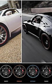 New Universal Car styling Wheel Rim Sticker Protective Ring For Automobile Hub 22'' MAX Auto Decoration 10 Colors