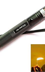 ls316 301 com fecho ajustável queima verde lanterna ponteiro laser (5mW, 532nm, b1x18650, preto)