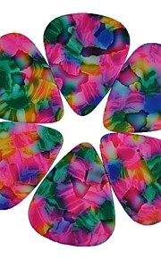 médio guitarra 0,71 milímetros pega palhetas tie dye celulóide rosa 100pcs-pack