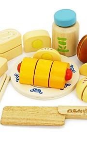 benho gummi træ kinesisk mad sæt træ rollespil legetøj
