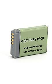 NB-13L - Li-ion - Batterij - voor for Canon  PowerShot G7 X - 3.6V - ( V ) - 1250mAh - ( mAh )