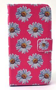 Per Samsung Galaxy Custodia A portafoglio / Porta-carte di credito / Con supporto Custodia Integrale Custodia Fiore decorativo Resistente