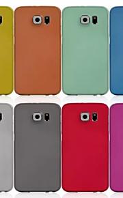 colore ultra-sottile glassato custodia protettiva per il bordo della galassia di Samsung S6 (colori assortiti)