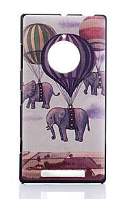 노키아 루미아 830에 대한 풍선 코끼리 패턴 PC의 하드 케이스