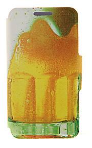 kinston® motif bière bulle cuir PU couverture complète du corps avec support pour HTC Desire yeux / M910
