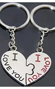 hjerte kys romantisk bryllup nøglering nøglering til kæreste Valentinsdag (et par)
