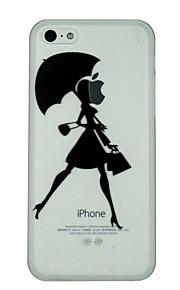 Jenta holder paraply mønster ultratynne pc hardt bakdekselet tilfelle for iphone 5c