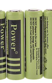 de macht 4.2v 5200mAh 18650 oplaadbare lithium-ion batterij (4 stuks)
