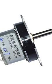40 milímetros dc 12v 7rpm alto torque caixa de velocidades do motor elétrico