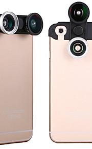 apexel 4-i-1 2 fisk ögats lins + 2 i 1 makroobjektiv och vidvinkelobjektiv telefon kameralins kit för iPhone 6 plus