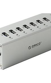 Orico a3h7-bk højhastigheds 7-port USB 3.0 hub m / LED-indikator - sort