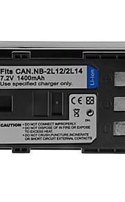 1400mAh camera batterij pack voor Canon NB-2l12 / NB-2L14