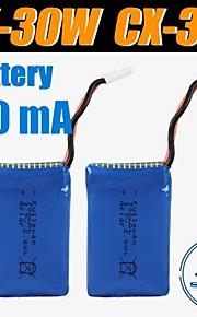 3stk / pack 3.7V 700mAh lipo cheersontoys batteri til CX-30W CX-30'erne v686 v686g Quadrokopter drone originale batterier