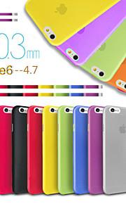 sportschool ultra dunne doorzichtige achterkant van de behuizing voor de iPhone 6 (assorti kleur)