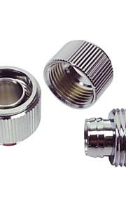 WT-040 G1/4 Thread 8 x 12mm Tube Chromium Plated Brass Joint - Silver
